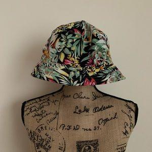Black Floral Bucket Hat